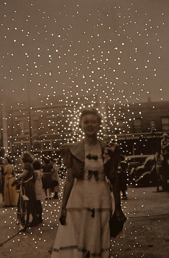 Amy Friend Pierces Vintage Photographs With Hundreds Of Illuminated Holes