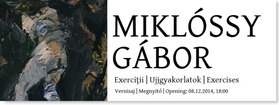"Gábor MIKLÓSSY ""Exerciții"" @ Galeria Quadro, Cluj Napoca"