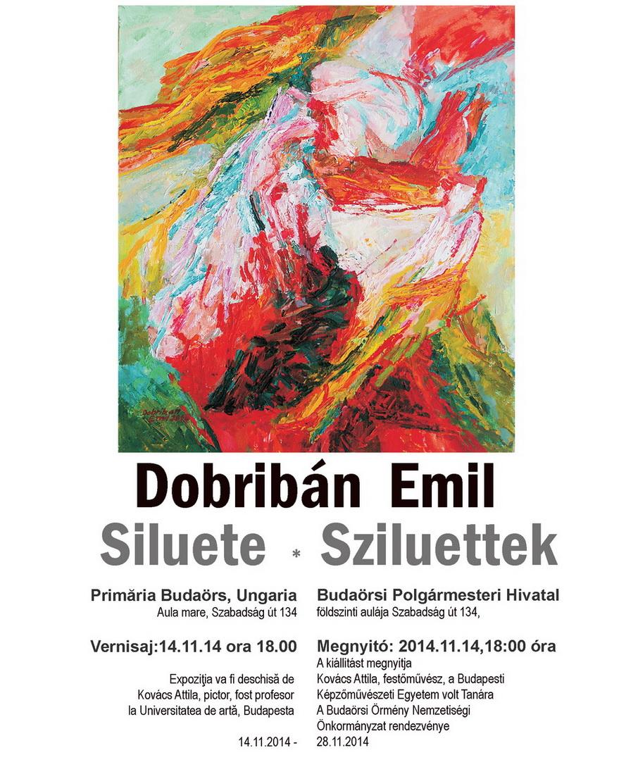 """Emil Dobriban – expoziţie personală """"Siluete"""" @ Primăria Budaörs, Ungaria"""