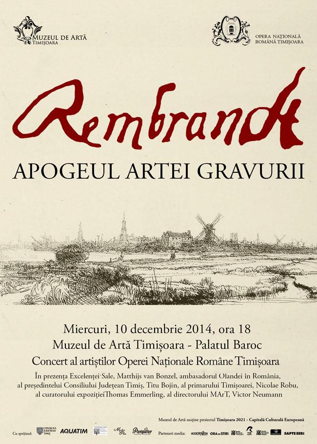 Rembrandt – Apogeul artei gravurii @ Muzeul de Artă Timișoara