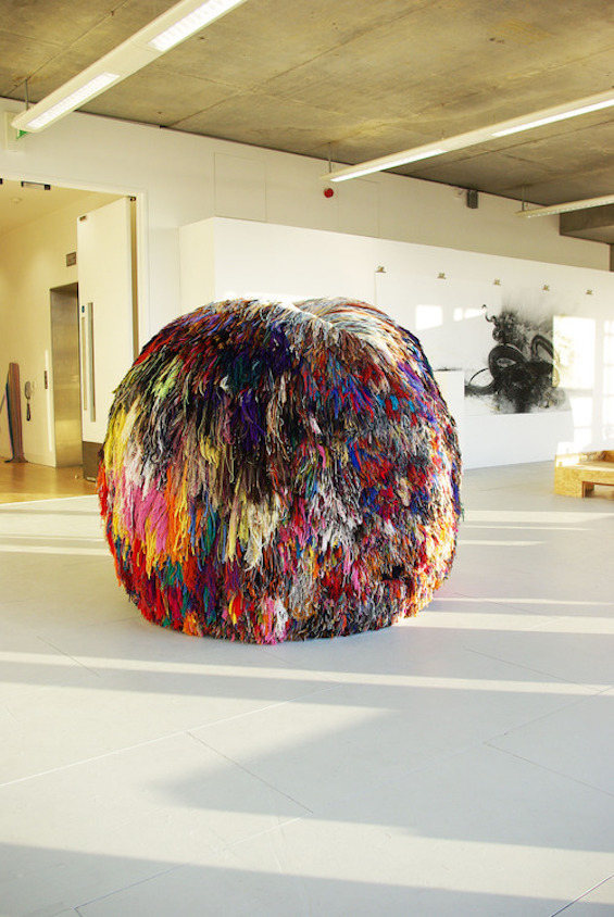 Eleanor Davies' Giant Pom Pom Made With Over 200 Colors Is On Steroids