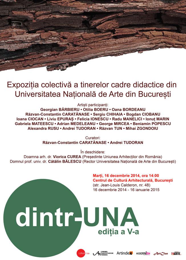 """Expoziția """"dintr-UNA"""" @ Centrul de Cultură Arhitecturală din București"""