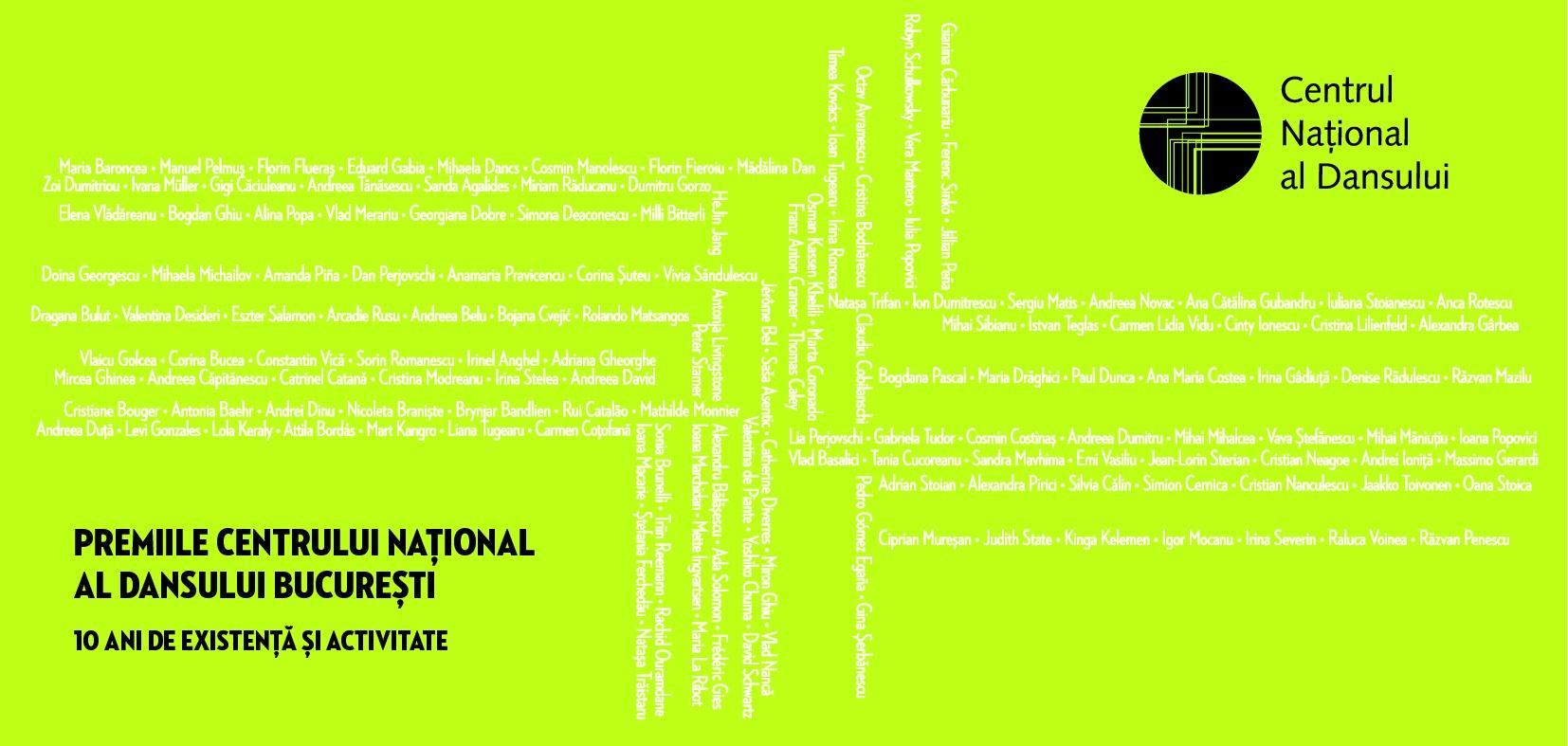 Premiile Centrului Național al Dansului București. 10 ani de existență și activitate