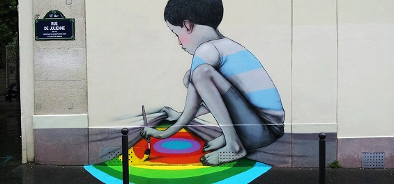 Seth Globepainter's Dreamlike, Rainbow-Colored Murals