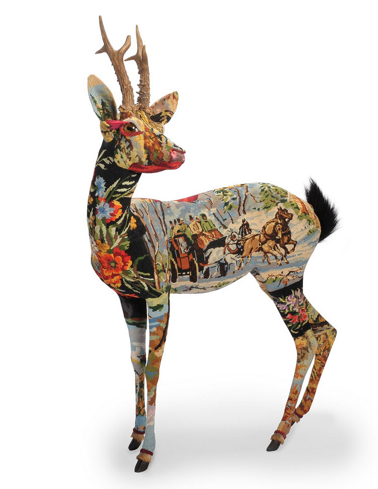 Old Tapestries Transformed Into Wonderful Animal Sculptures