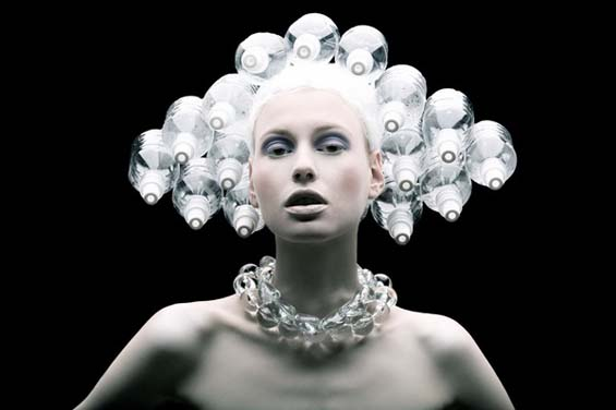 Cheap Plastic Products Transformed Into Surrealist Fashion Shoot