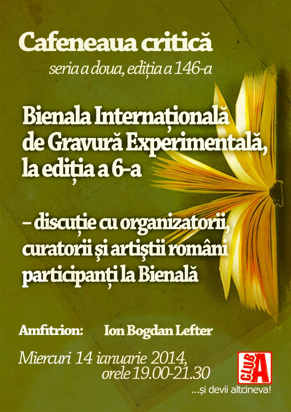 Cafeneaua critică despre Bienala Internaţională de Gravură Experimentală