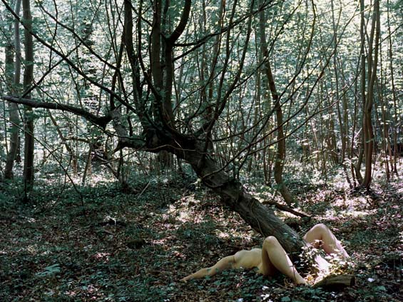Photographer Julian Feeld's Cryptic And Visceral Images Of Naked Bodies In The Woods