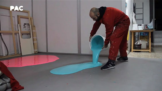 Guillermo Mora Creates Brightly Colored Sculptures From 550 Pounds Of Acrylic Paint