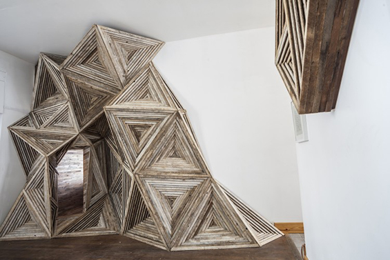 Serra Victoria Bothwell Fels' Creates Unimaginable Installations With Reclaimed Wood