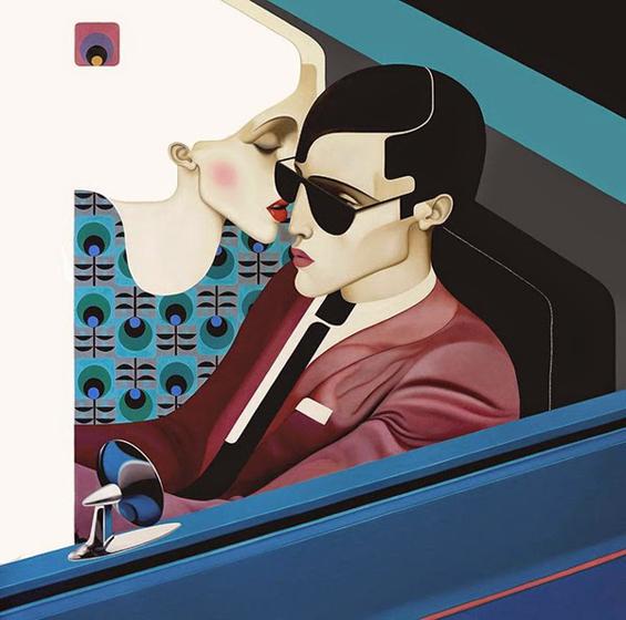 Slava Fokk's Surreal Art Deco Inspired Paintings