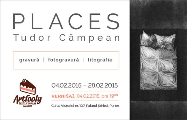 """Tudor Câmpean """"PLACES"""" @ Artfooly, Palatul Știrbei, București"""