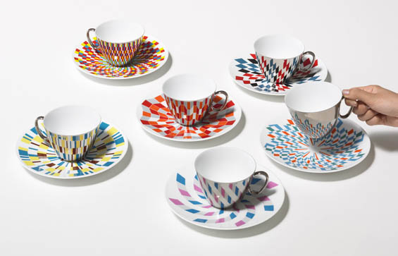 D-BROS' Mirrored Teacups Create Geometric Harmony With Their Saucers