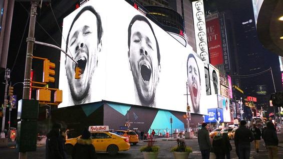 Sebastian Errazuriz's Contagious Yawns Fill Billboards In Time Square