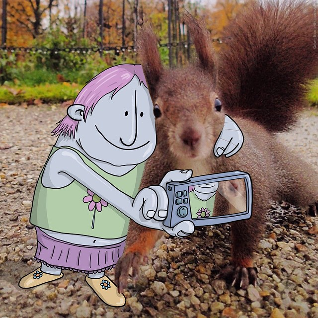 Illustrator Lucas Levitan Adds Whimsical Characters to Photos He Finds on Instagram