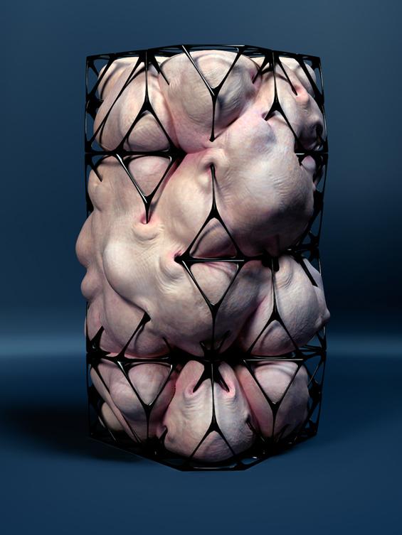Jason Hopkins Imagines A Horrific Architectural Posthuman Form