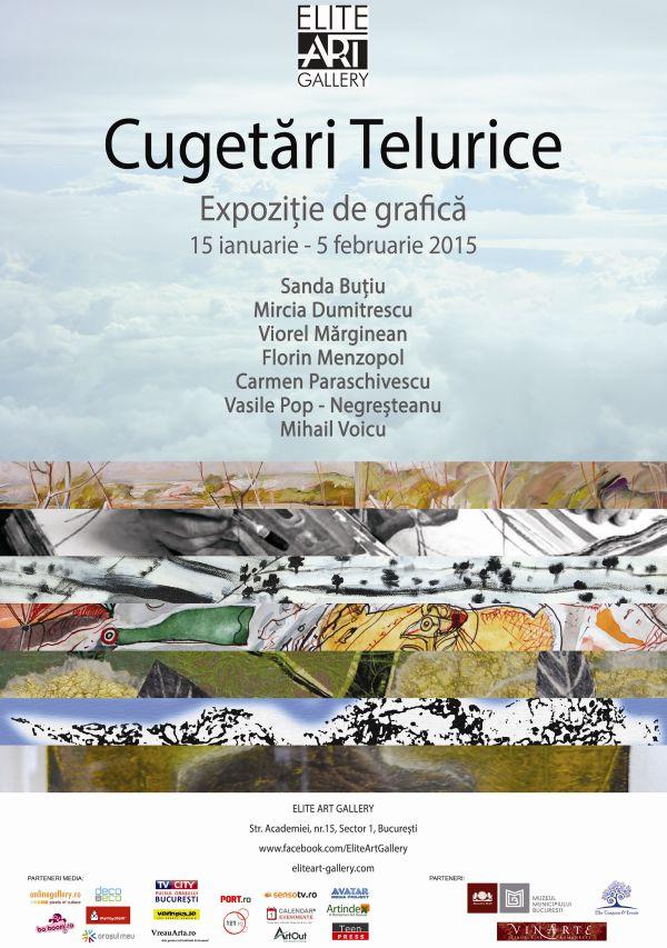 """Expoziția de grafică """"Cugetări Telurice"""" @ Elite Art Gallery, București"""