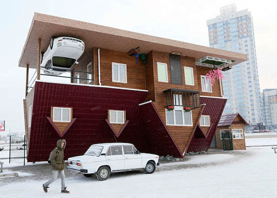 Ilya Naymushin Photographs An Unbelievable Upside Down House In Siberia