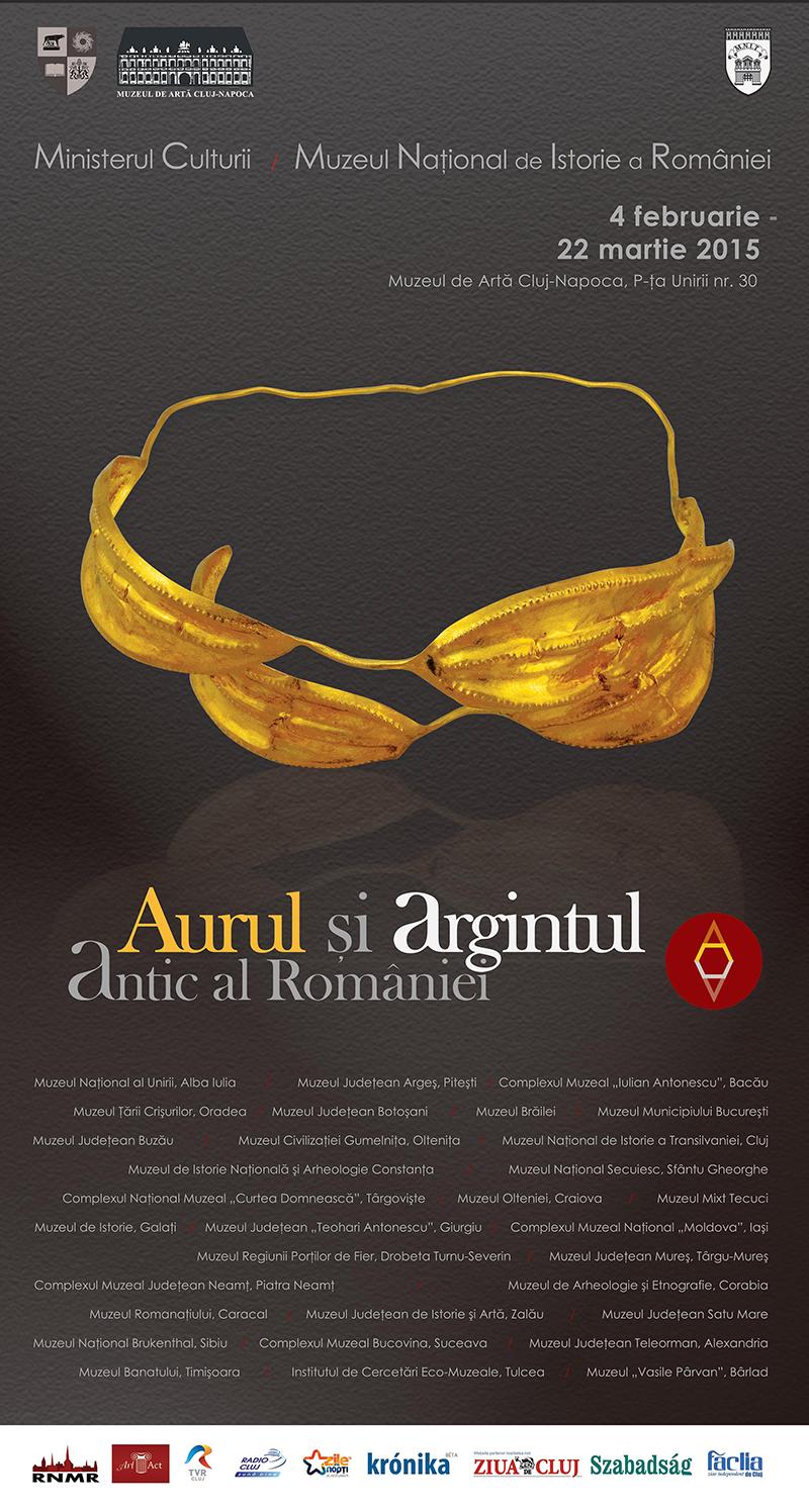 """Expoziţia """"Aurul și argintul antic al României"""" @ Muzeul de Artă Cluj-Napoca"""