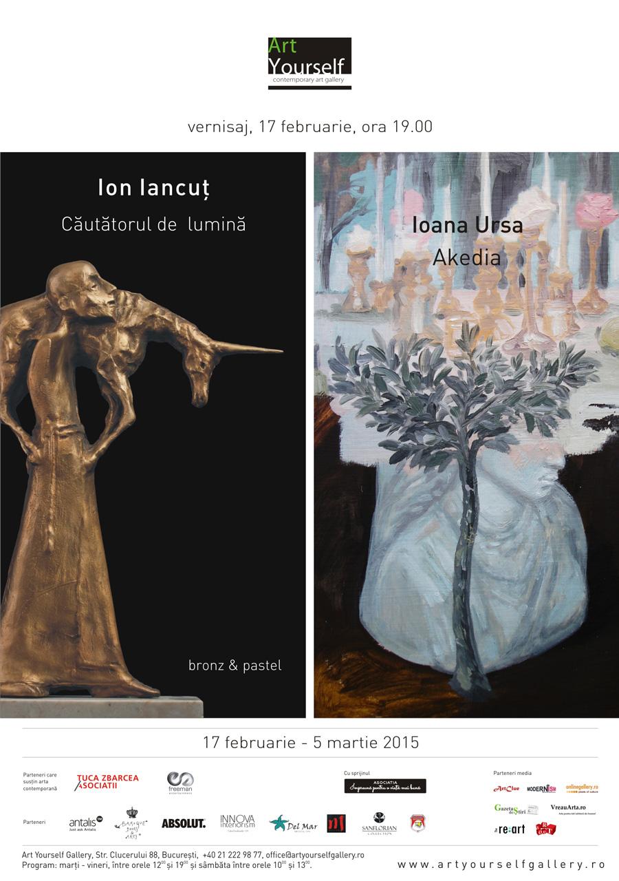 """""""Căutătorul de lumină"""" Ion Iancuț și """"Akedia"""" Ioana Ursa Art Yourself Gallery, București"""
