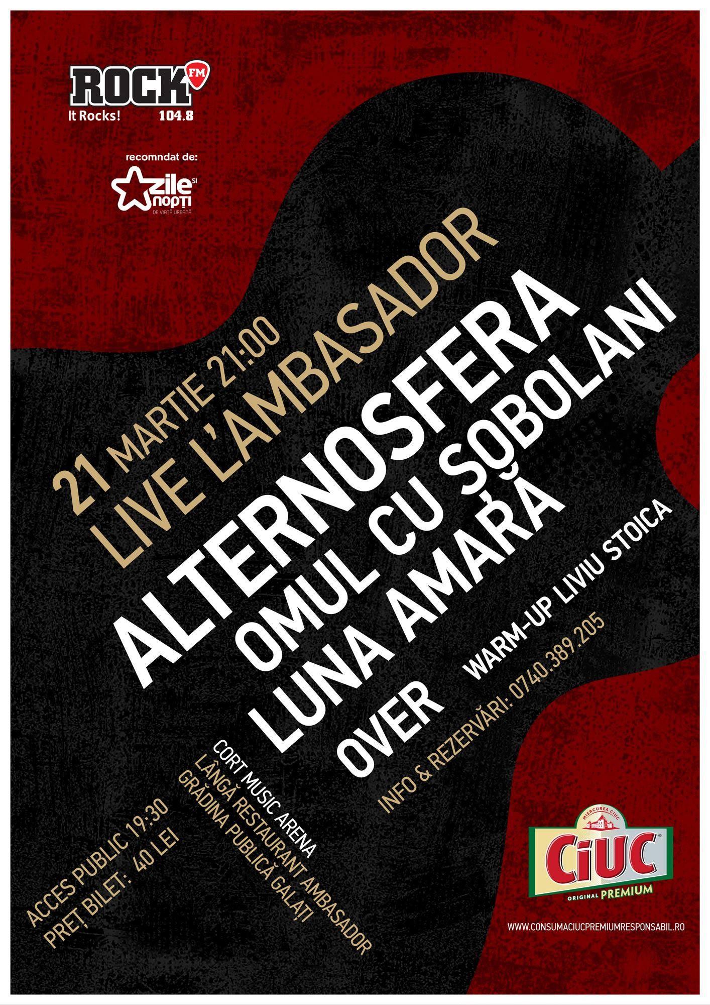 Concert-maraton în Galaţi @ Alternosfera, Omul cu Şobolani și Luna Amară