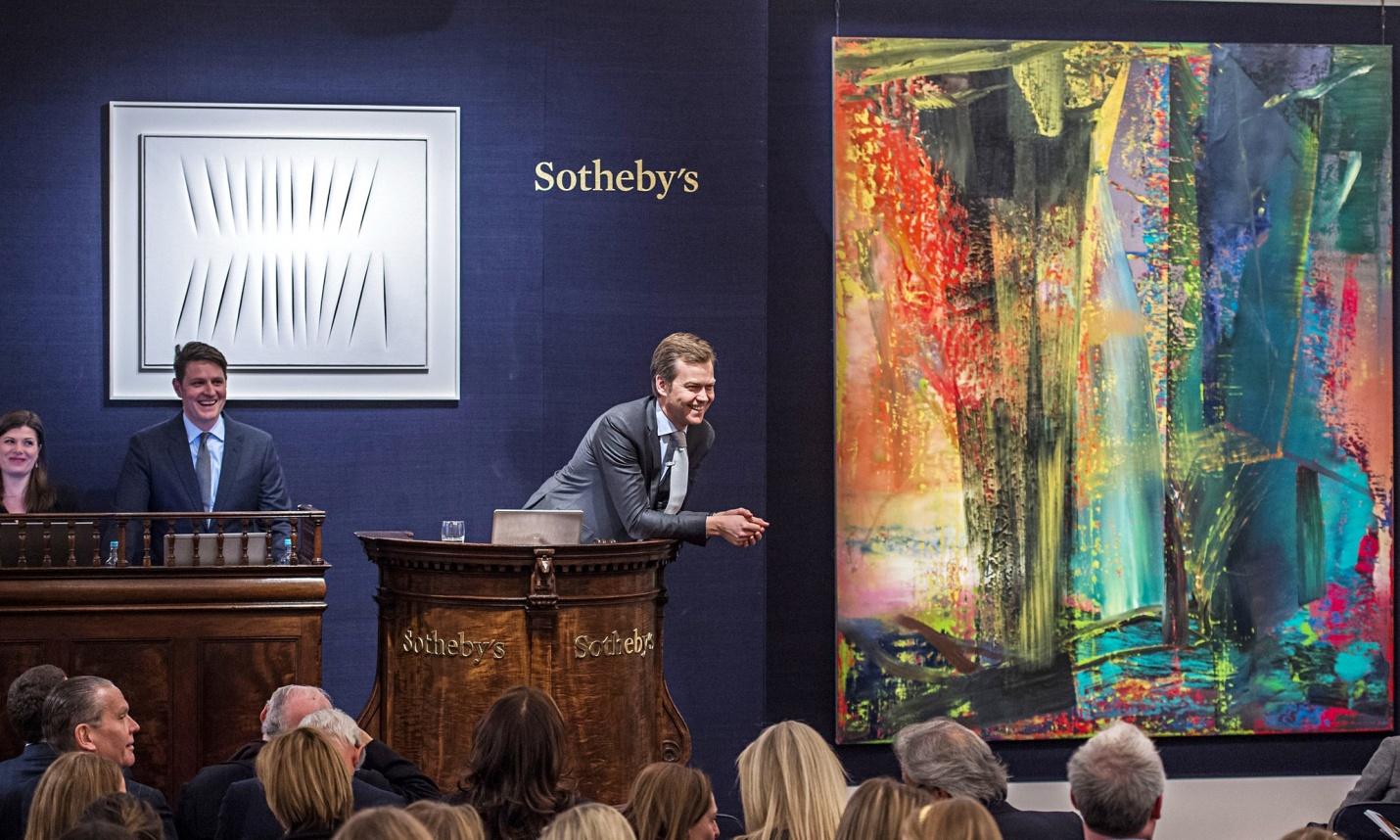 Lucrarea lui Gerhard Richter vanduta la pret record: 41 milioane €