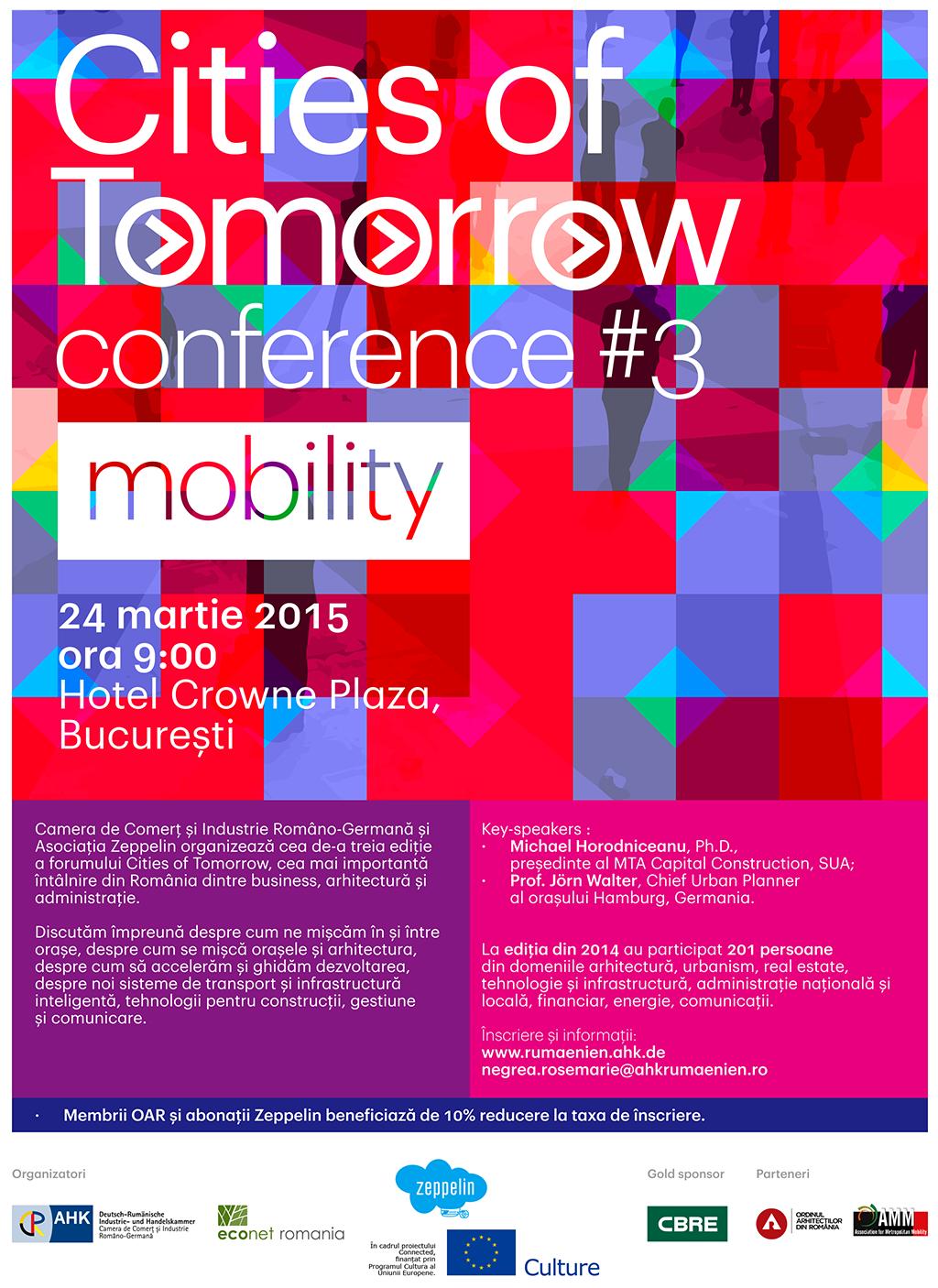 Cea de-a treia ediție a Cities of Tomorrow, cea mai importantă întâlnire din România dintre business, arhitectură și administrație