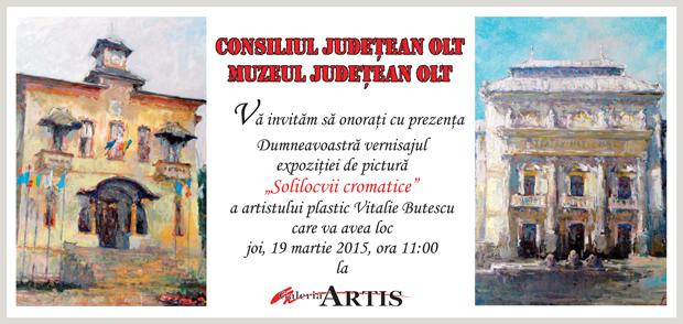 """Vitalie Butescu @ Galeria """"Artis"""" a Muzeului Judetean Olt"""
