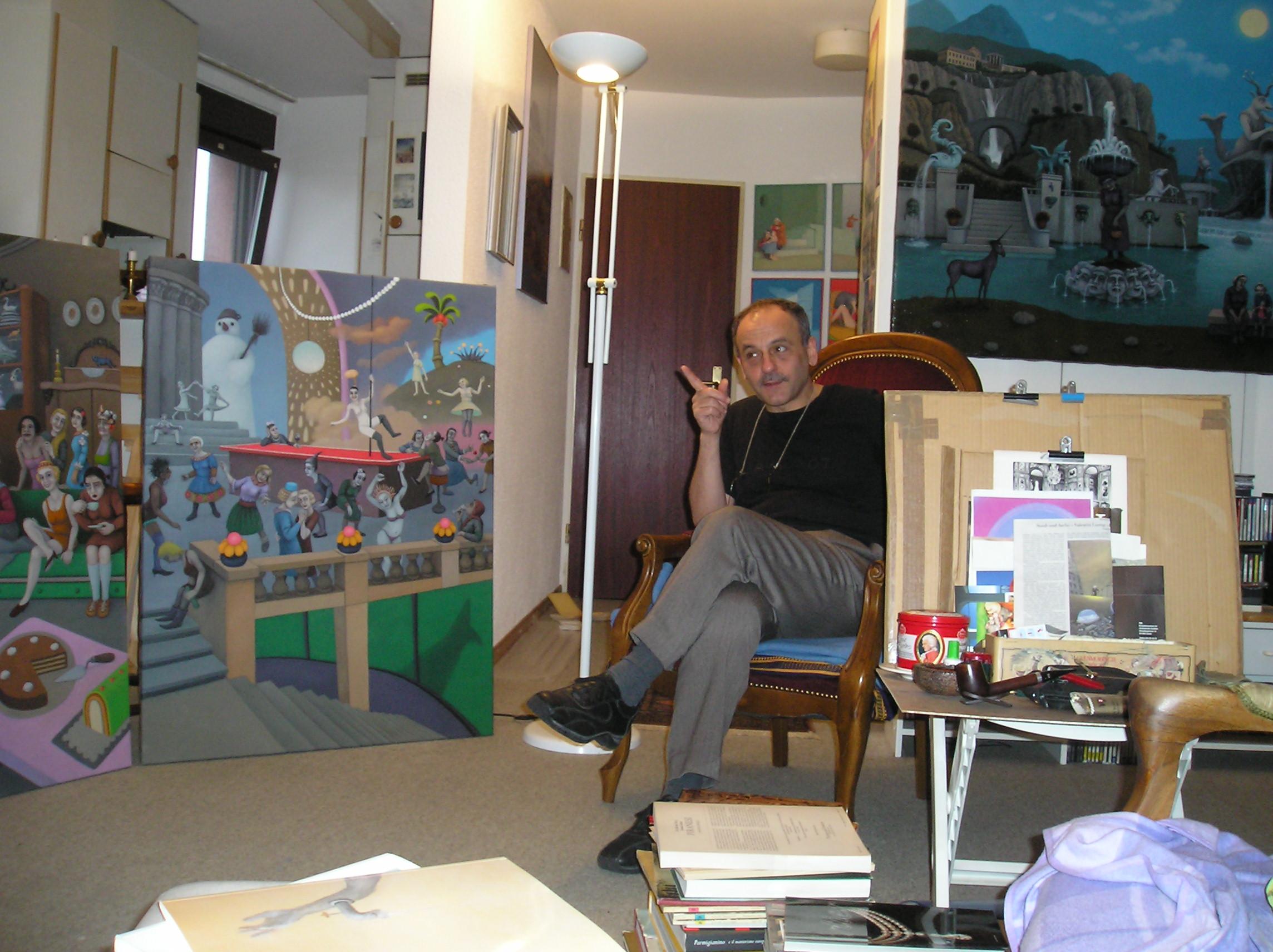 """Valentin Lustig – un pictor clujean stabilit la Zürich """"expune"""" la """"Pavilionul de oaspeţi"""""""