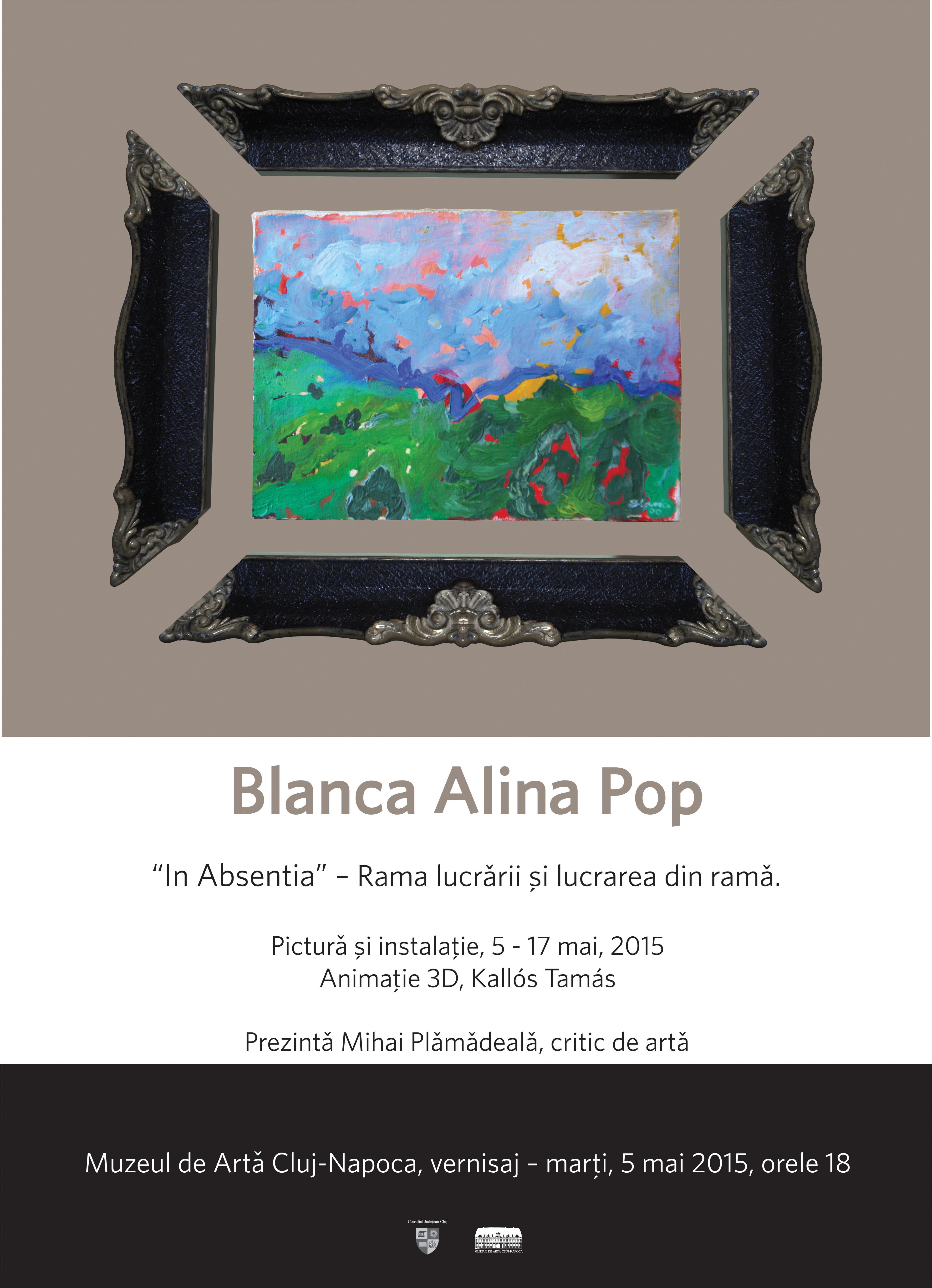 In Absenţia – Rama lucrării şi lucrarea din ramă – Blanca Alina Pop @ Muzeul Național de Artă din Cluj-Napoca
