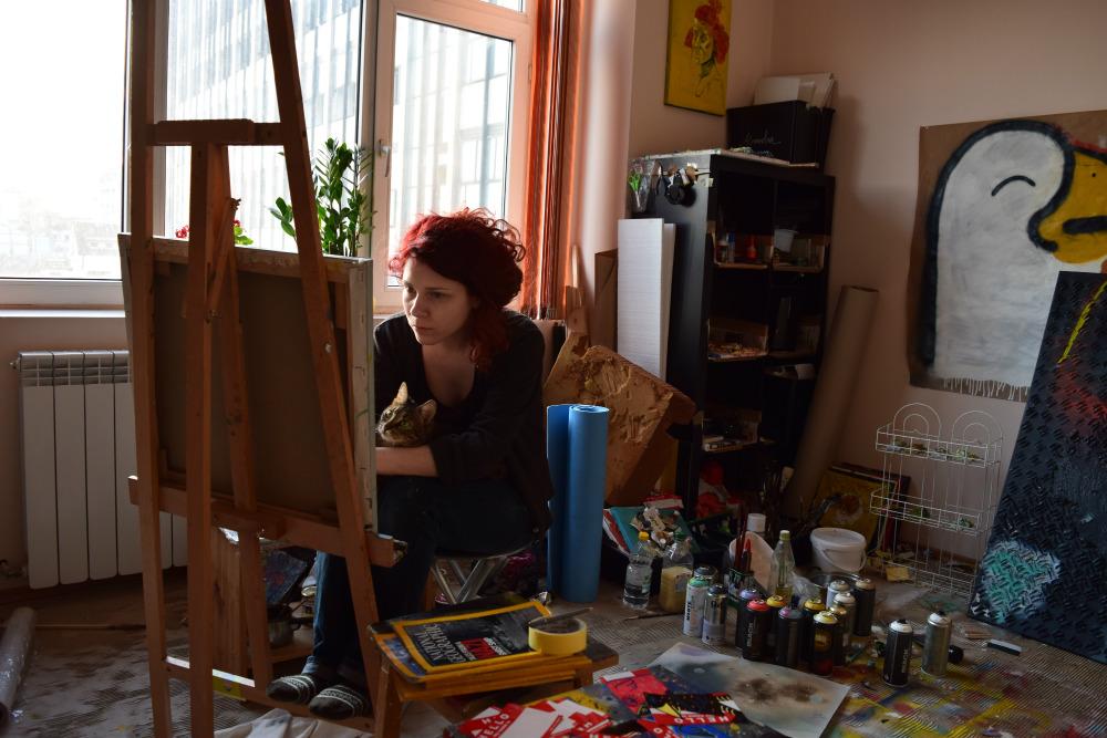 Alexandra Tudosia – selfie @ atelier