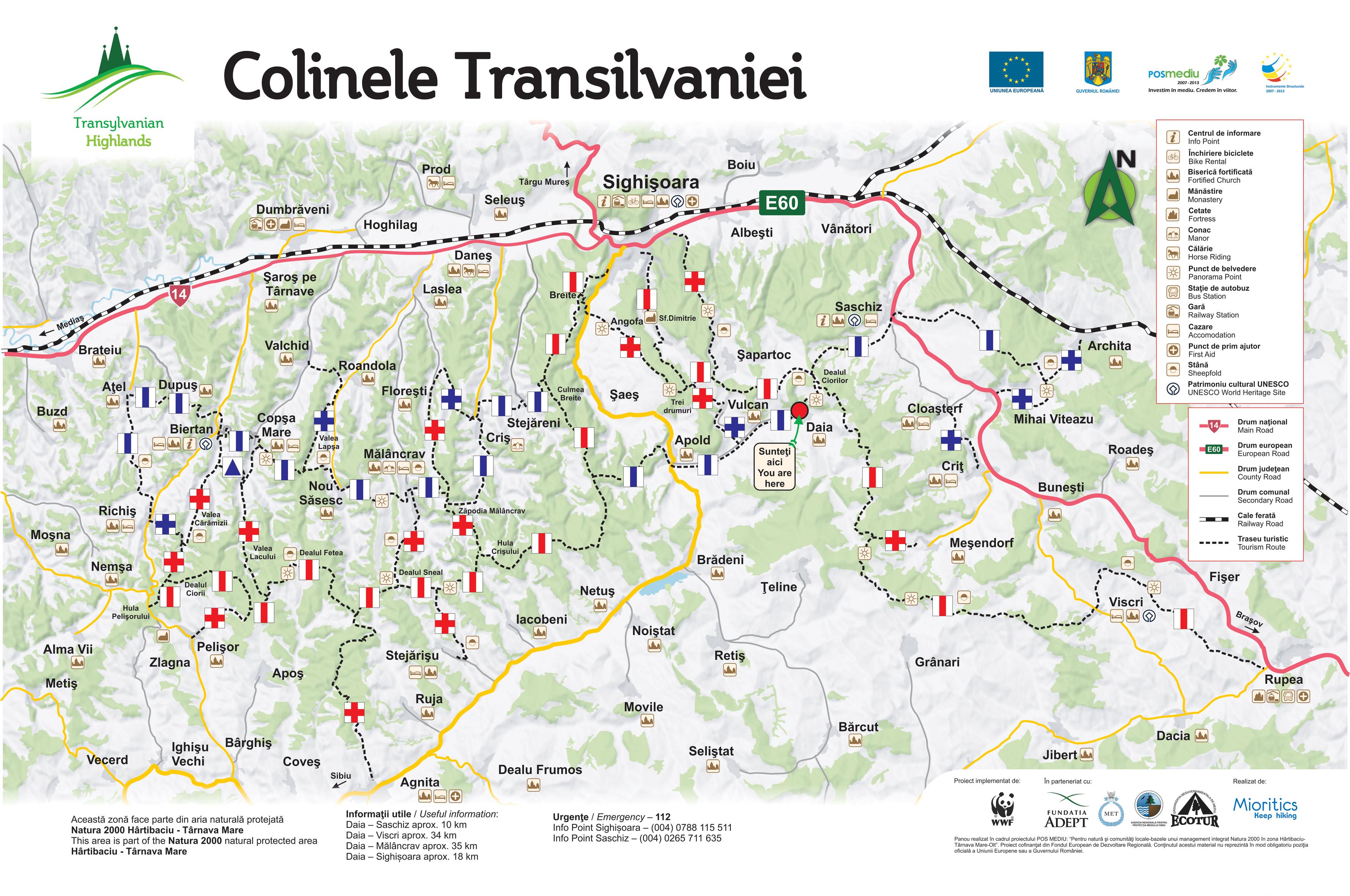 Trasee de bicicletă și drumeție în Podișul Hârtibaciului din Transilvania
