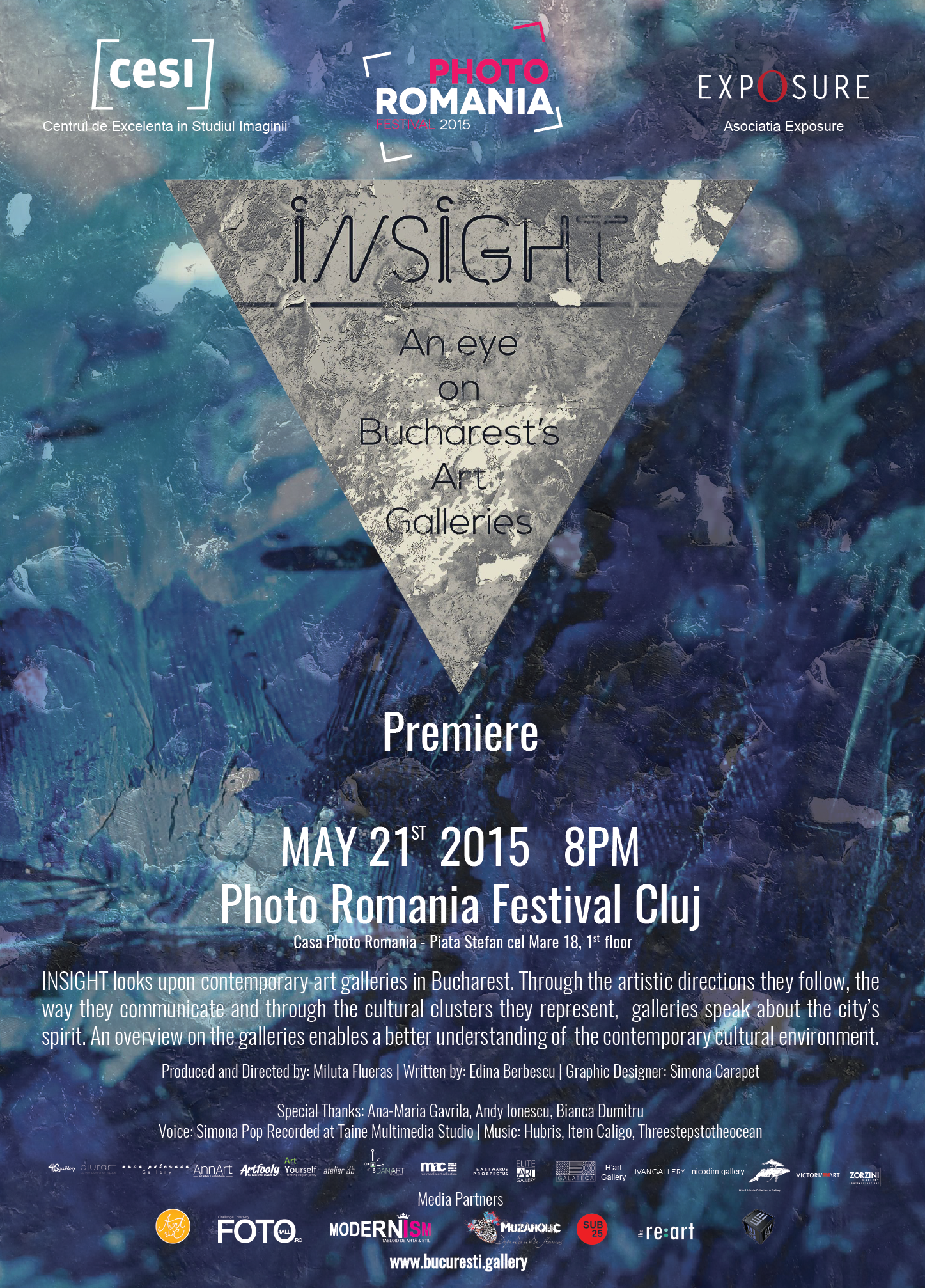 Lansarea documentarului INSIGHT. An eye on Bucharest's art galleries @ Photo Romania Festival