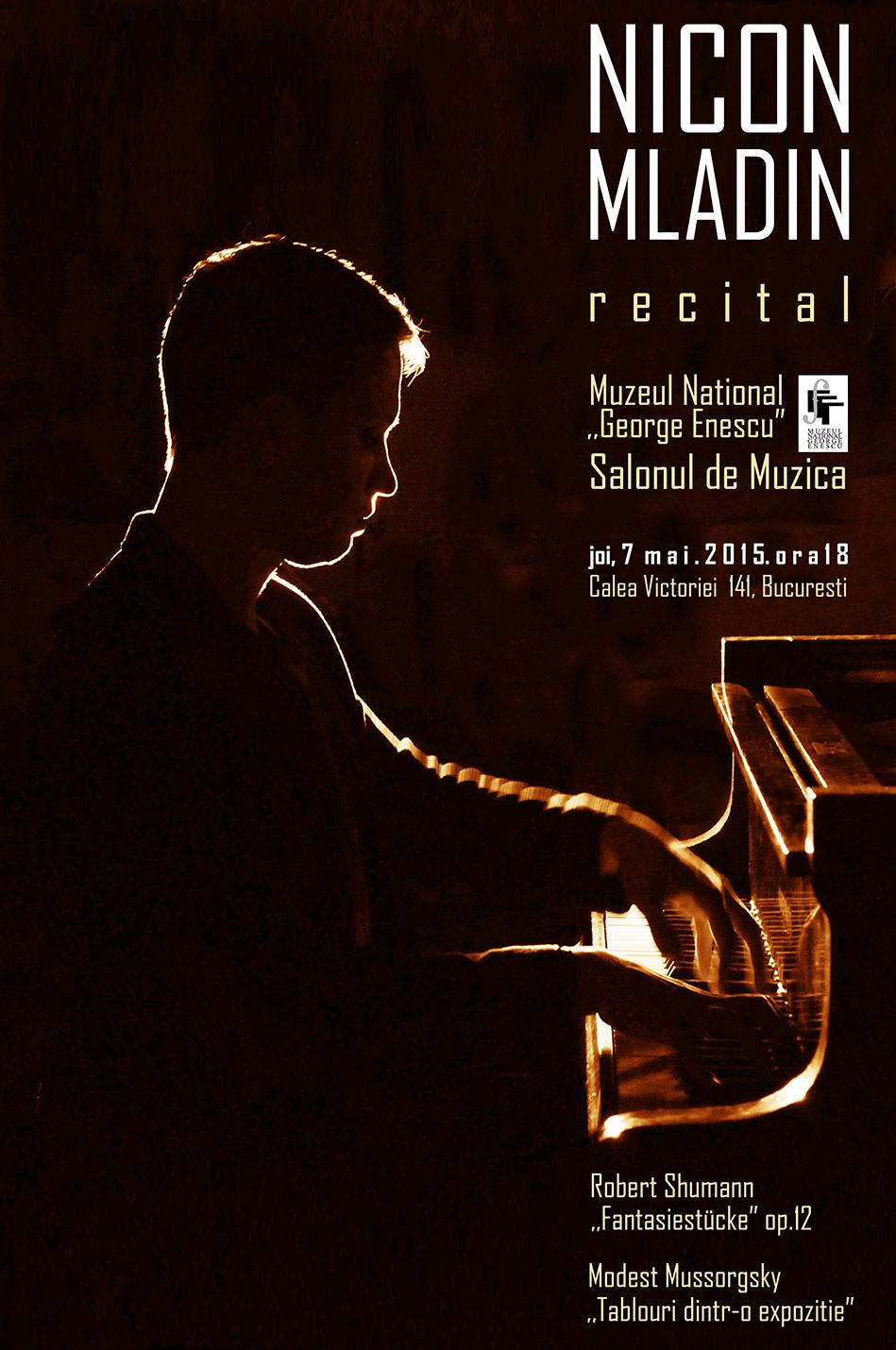 """Recital de pian NICON MLADIN @ Muzeul National ,,George Enescu"""""""