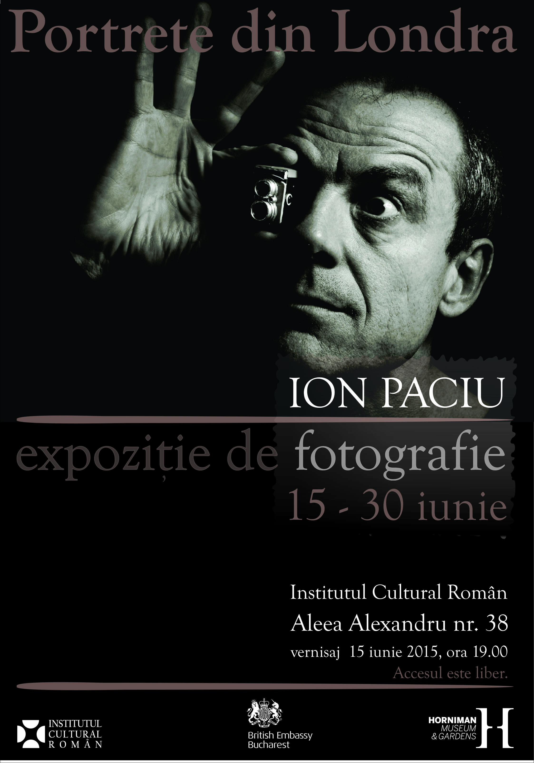 "Ion Paciu – ""Portrete din Londra"""