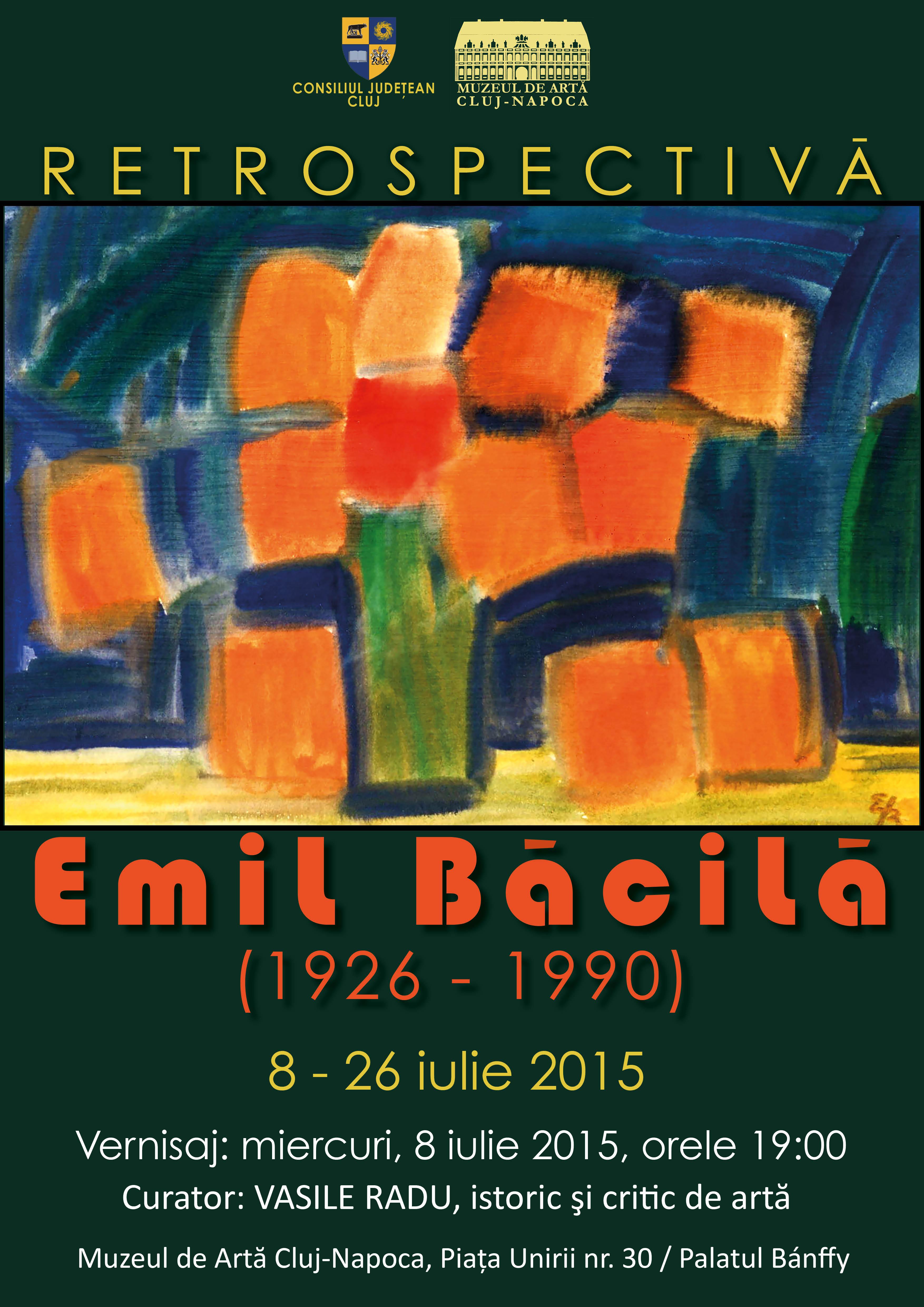 RETROSPECTIVĂ EMIL BĂCILĂ @ Muzeul de Artă Cluj-Napoca