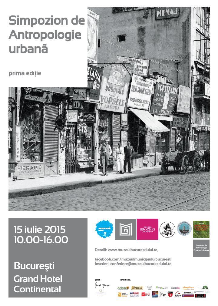 Simpozionul de Antropologie urbană, prima ediţie