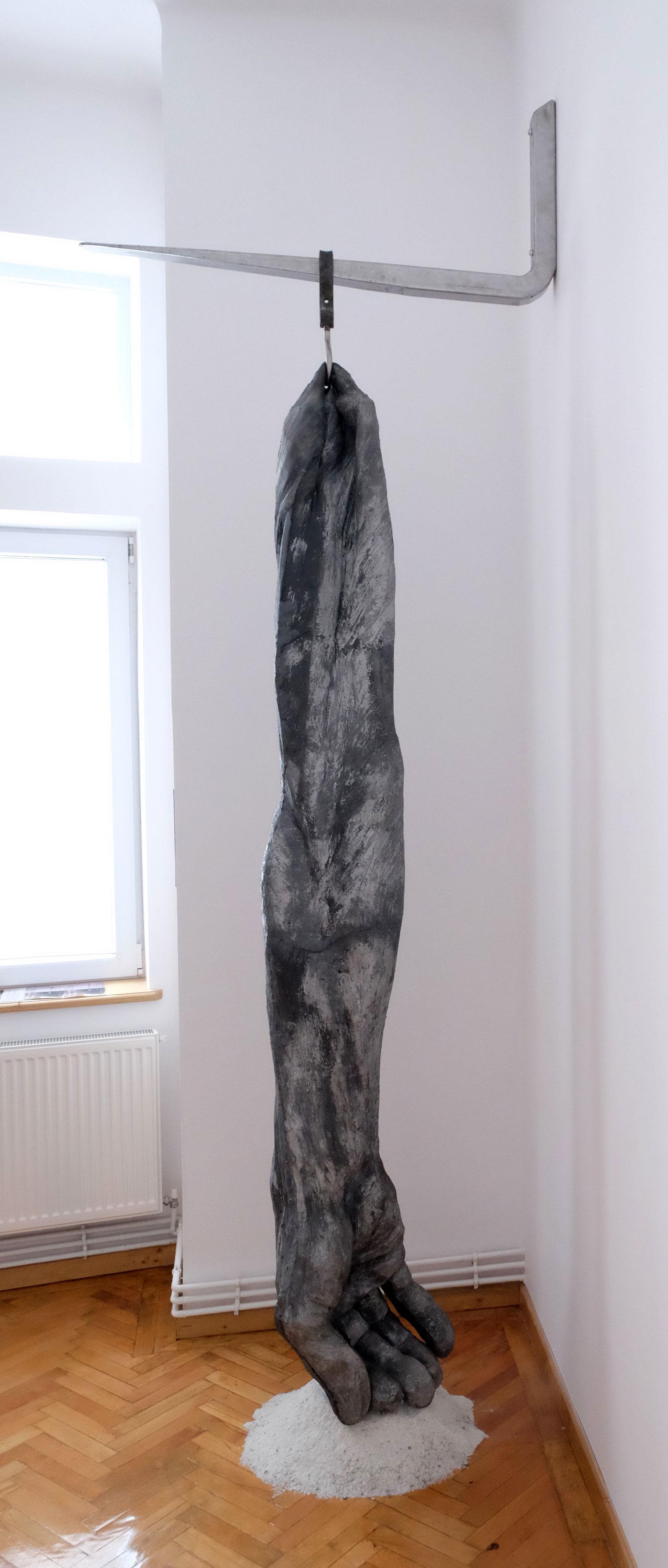 """Cătălin Bădărău, """"Registered"""", 2015, Sculpture, mixed media, 300x40x40 cm (HxWxD)"""