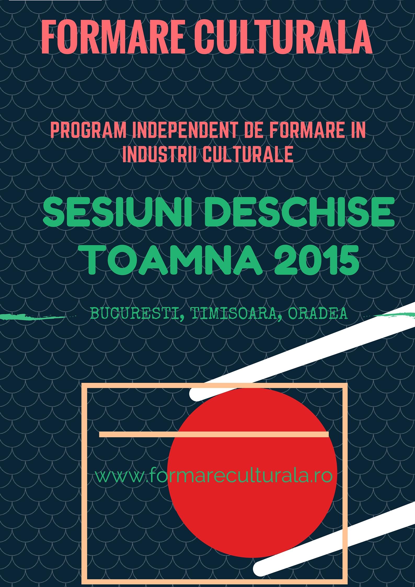 Experiență formalizată: formare profesională în industrii culturale și creative @Formare Culturală