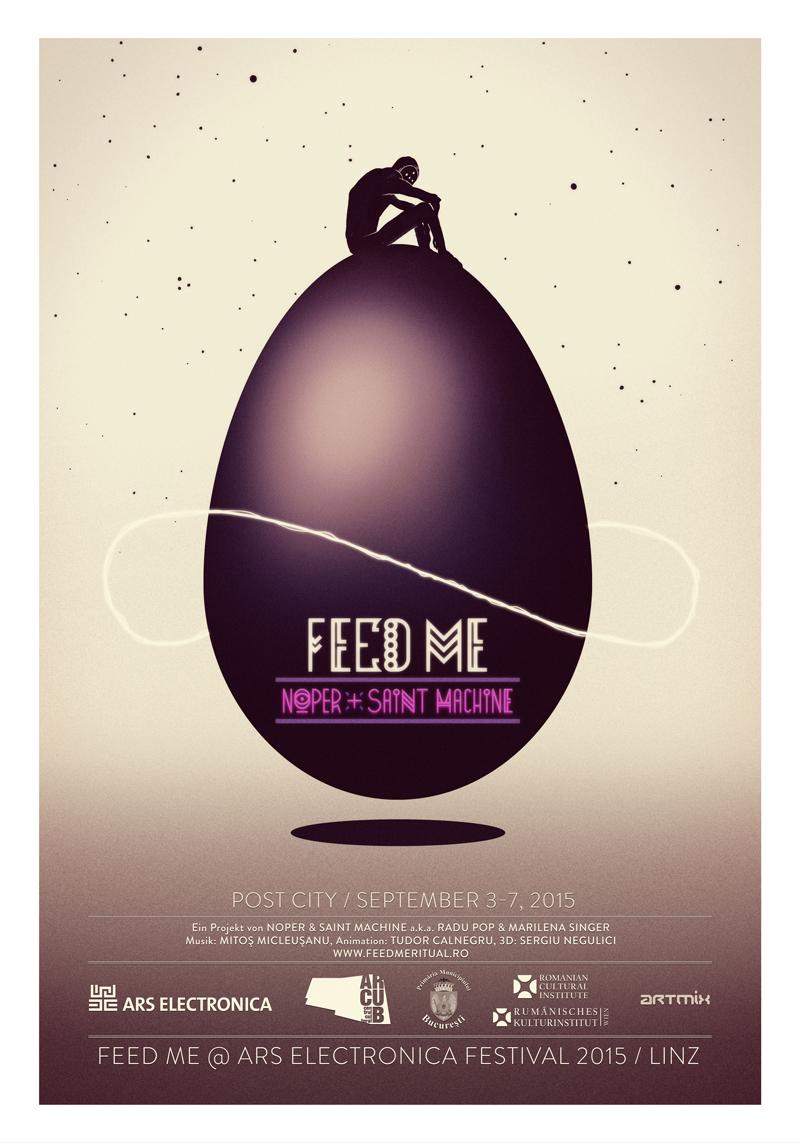 Expoziția FEED ME a artiștilor Saint Machine și Noper @ Festivalul Ars Electronica din Linz