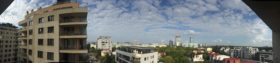 Bucharest panoramic postcard
