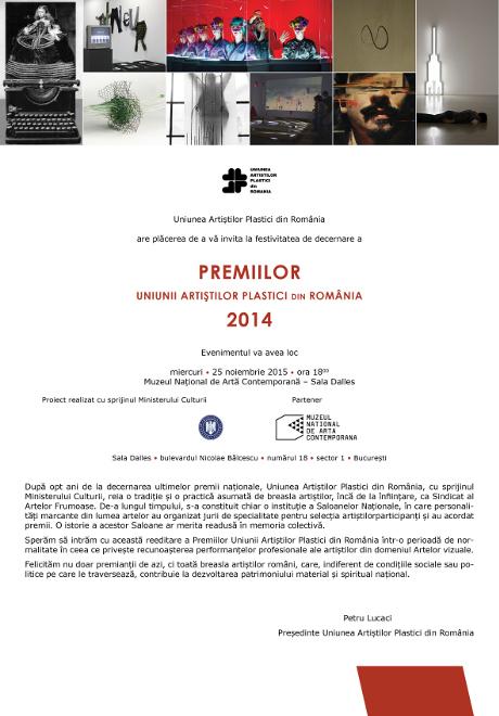 Premiile Uniunii Artiștilor Plastici din România 2014