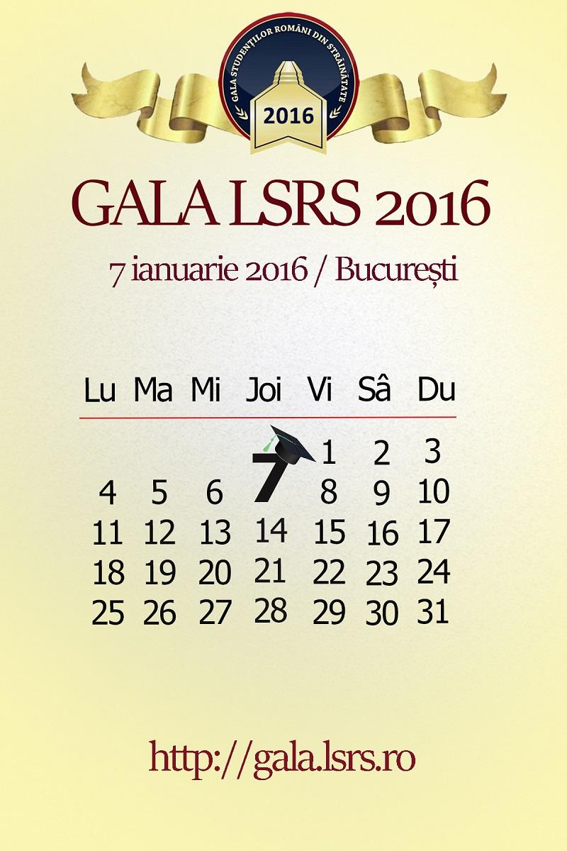 Înscriere la Premiile LSRS pentru Excelenţă Academică în Străinătate