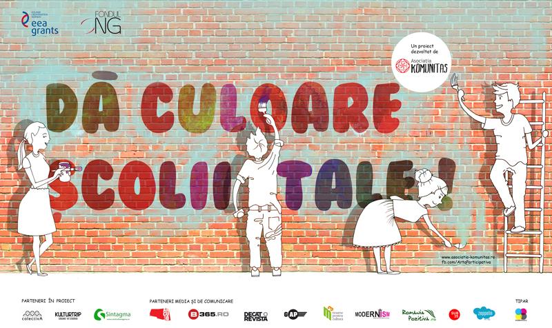 Dă culoare școlii tale! – proiect de artă participativă în școli derulat de Asociația Komunitas