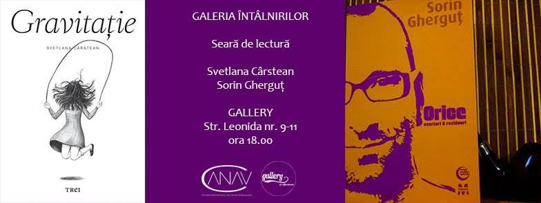 Lectură de poezie cu Svetlana Cârstean și Sorin Gherguț @ Gallery