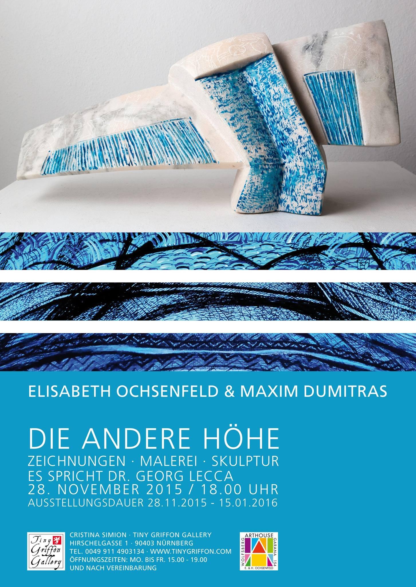 "Elisabeth Ochsenfeld și Maxim Dumitraș ""Cealaltă Înălțime"" @ Tiny Griffon Gallery, Germania"
