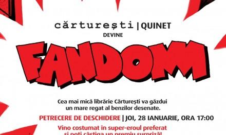 Carturesti Quinet devine Fandom, o librarie dedicată benzilor desenate