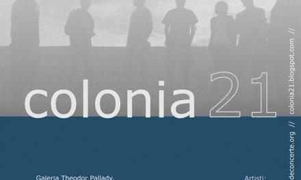 "Expoziţie COLONIA 21 la Galeria ""Theodor Pallady"" @ Iasi"
