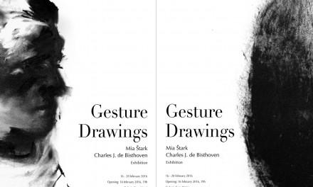 Gesture Drawings, expoziție studenți Erasmus+ @ Galeria Casa Matei, Cluj-Napoca