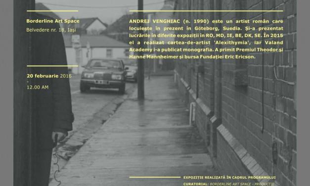 "Andrei Venghiac, ""PERSONA. PERFORMING THE IMPERCEPTIBLE SELF"" @ Borderline Art Space, Iași"